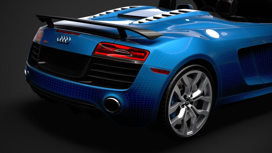 Audi R8 V10 Competizioni Spyder 2016 royalty-free 3d model - Preview no. 39
