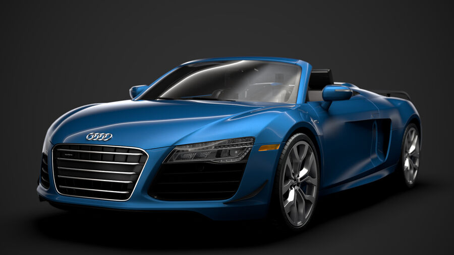 Audi R8 V10 Competizioni Spyder 2016 royalty-free 3d model - Preview no. 9