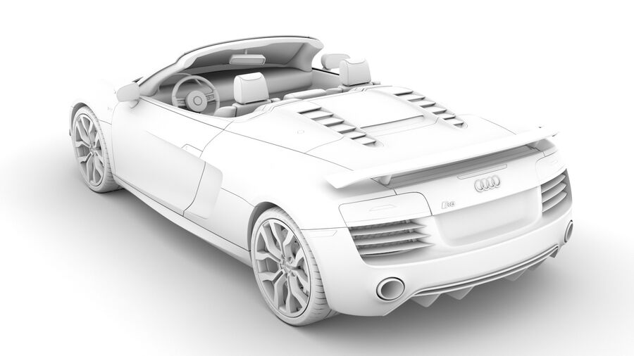 Audi R8 V10 Competizioni Spyder 2016 royalty-free 3d model - Preview no. 18