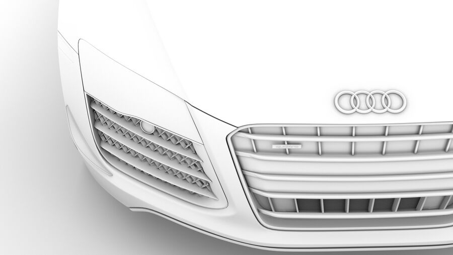 Audi R8 V10 Competizioni Spyder 2016 royalty-free 3d model - Preview no. 24