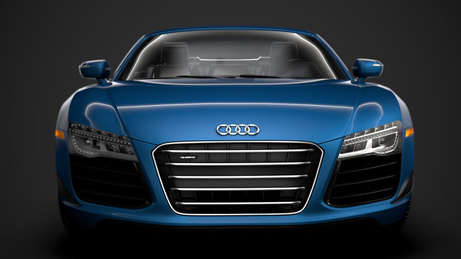 Audi R8 V10 Competizioni Spyder 2016 royalty-free 3d model - Preview no. 7