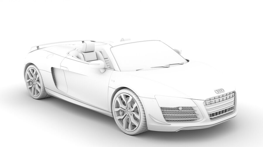 Audi R8 V10 Competizioni Spyder 2016 royalty-free 3d model - Preview no. 15