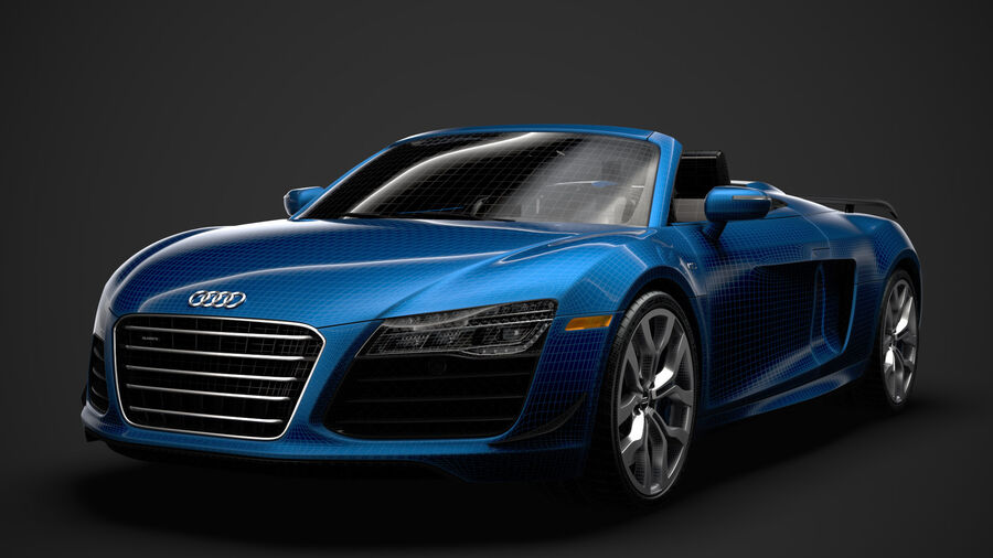 Audi R8 V10 Competizioni Spyder 2016 royalty-free 3d model - Preview no. 37