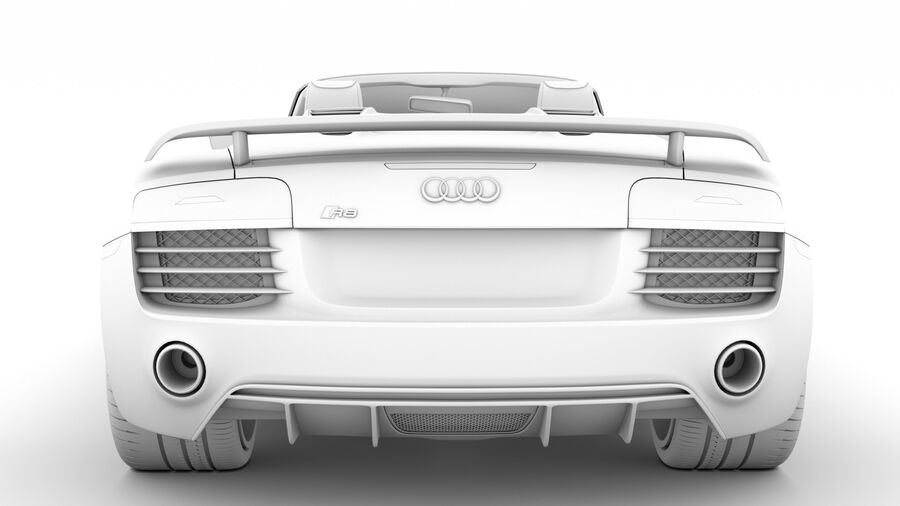 Audi R8 V10 Competizioni Spyder 2016 royalty-free 3d model - Preview no. 28