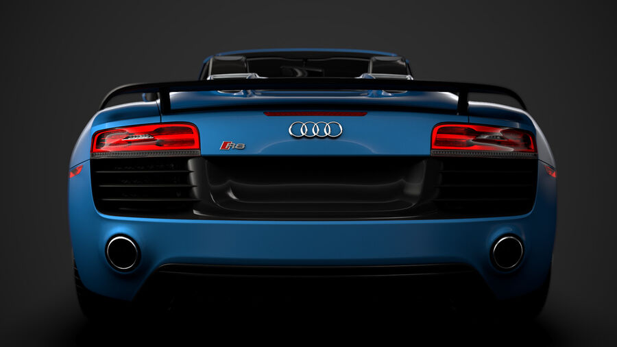 Audi R8 V10 Competizioni Spyder 2016 royalty-free 3d model - Preview no. 14