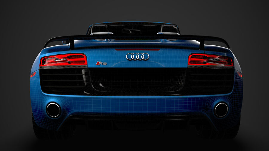 Audi R8 V10 Competizioni Spyder 2016 royalty-free 3d model - Preview no. 42