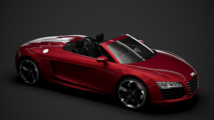 Audi R8 V10 Spyder del 2016 royalty-free 3d model - Preview no. 13