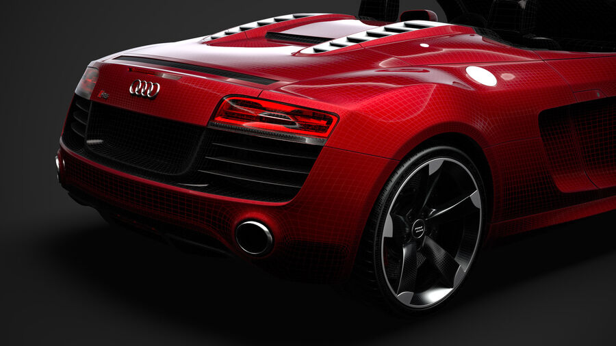 Audi R8 V10 Spyder del 2016 royalty-free 3d model - Preview no. 39