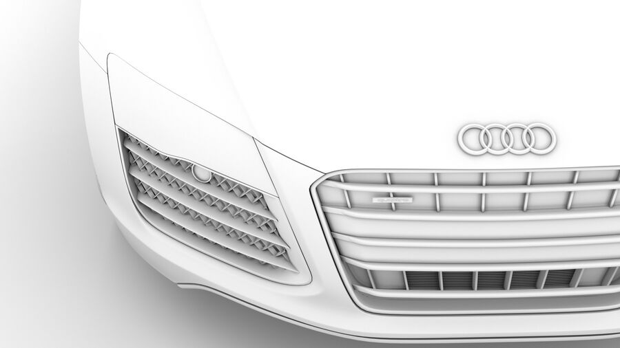 Audi R8 V10 Spyder del 2016 royalty-free 3d model - Preview no. 24