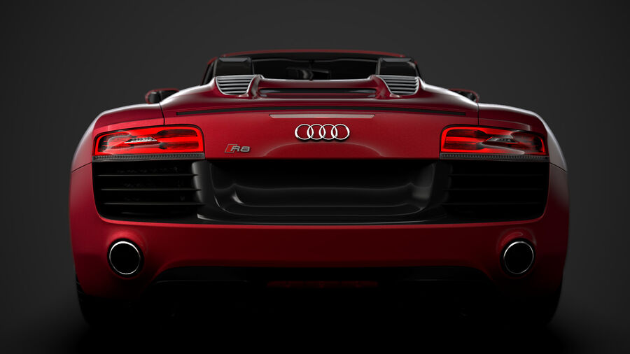 Audi R8 V10 Spyder del 2016 royalty-free 3d model - Preview no. 14