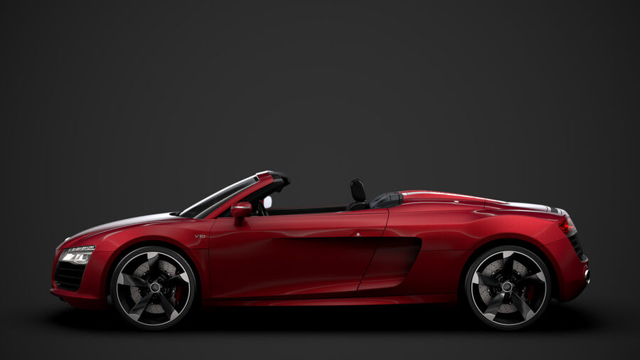 Audi R8 V10 Spyder del 2016 royalty-free 3d model - Preview no. 6
