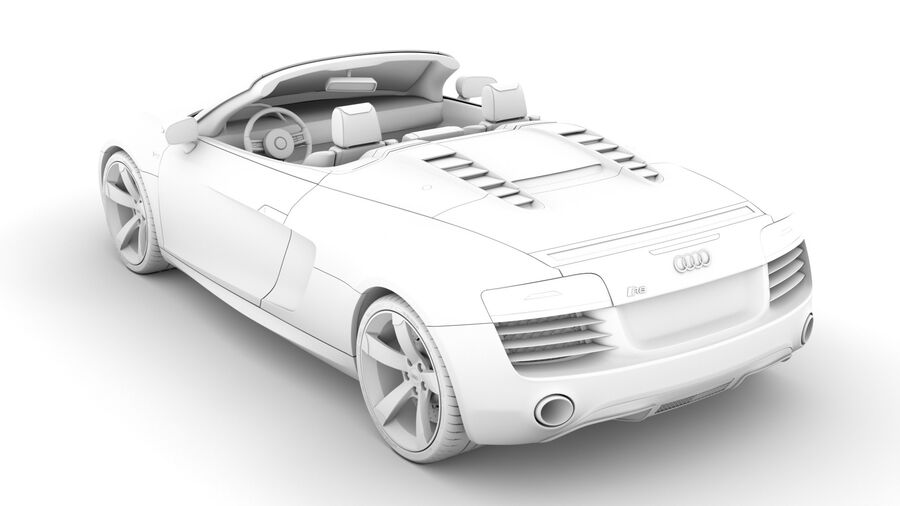 Audi R8 V10 Spyder del 2016 royalty-free 3d model - Preview no. 18