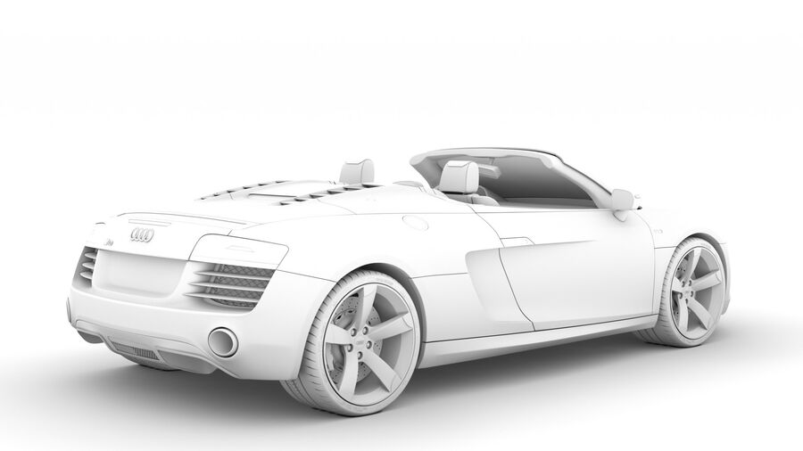 Audi R8 V10 Spyder del 2016 royalty-free 3d model - Preview no. 17