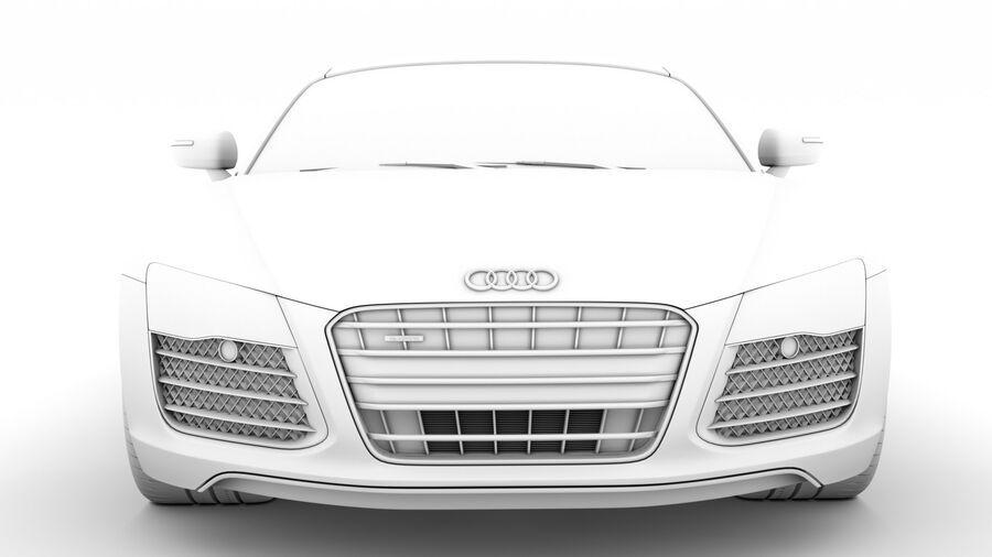 Audi R8 V10 Spyder del 2016 royalty-free 3d model - Preview no. 21