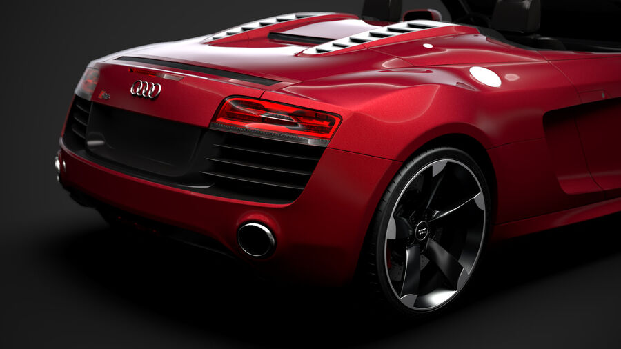 Audi R8 V10 Spyder del 2016 royalty-free 3d model - Preview no. 11