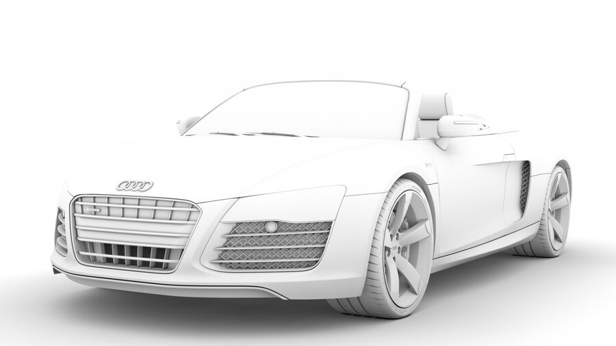 Audi R8 V10 Spyder del 2016 royalty-free 3d model - Preview no. 23