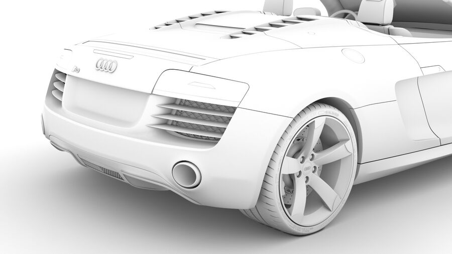Audi R8 V10 Spyder del 2016 royalty-free 3d model - Preview no. 25