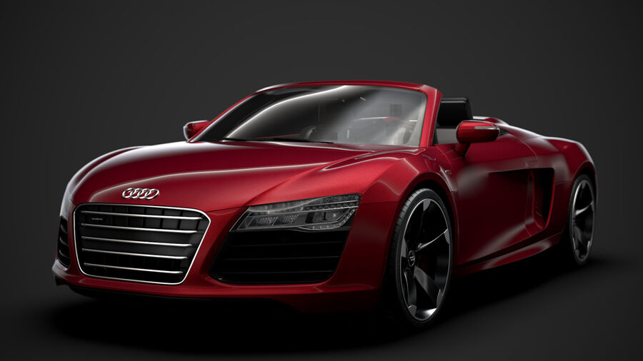 Audi R8 V10 Spyder del 2016 royalty-free 3d model - Preview no. 9