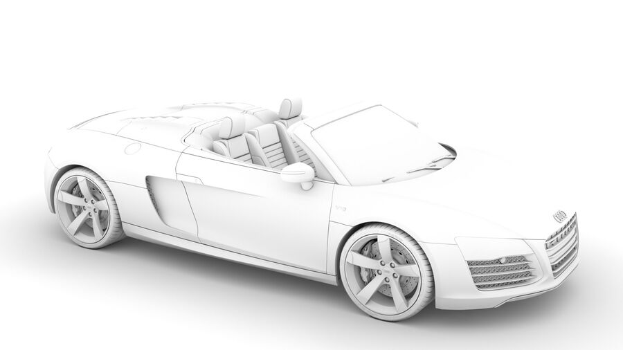 Audi R8 V10 Spyder del 2016 royalty-free 3d model - Preview no. 27