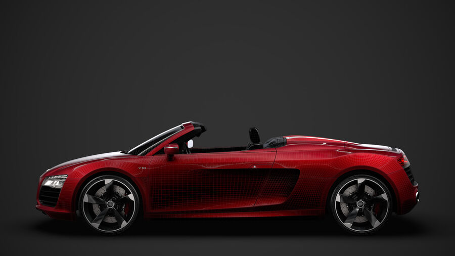 Audi R8 V10 Spyder del 2016 royalty-free 3d model - Preview no. 34