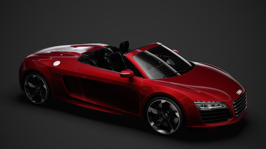 Audi R8 V10 Spyder del 2016 royalty-free 3d model - Preview no. 41