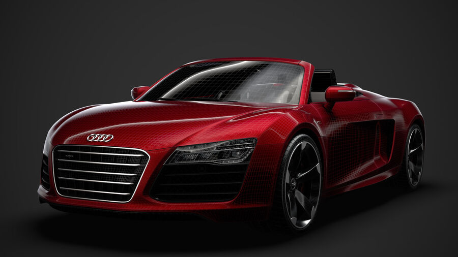 Audi R8 V10 Spyder del 2016 royalty-free 3d model - Preview no. 37