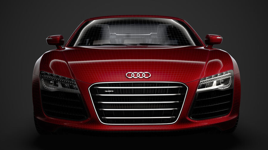 Audi R8 V10 Spyder del 2016 royalty-free 3d model - Preview no. 35
