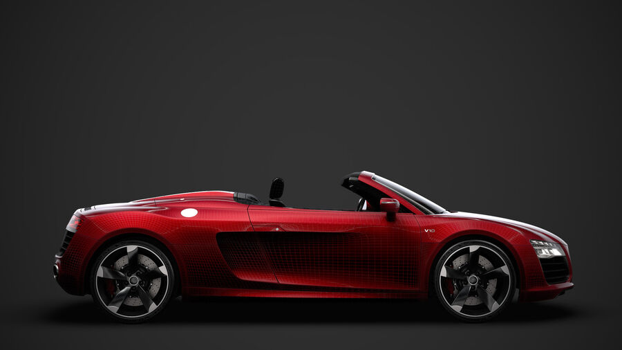 Audi R8 V10 Spyder del 2016 royalty-free 3d model - Preview no. 30