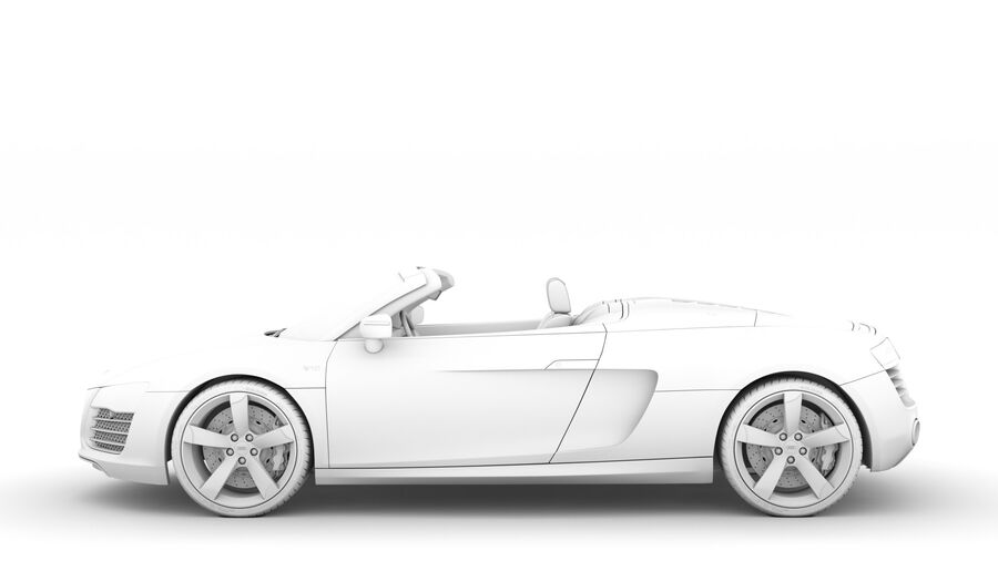 Audi R8 V10 Spyder del 2016 royalty-free 3d model - Preview no. 20