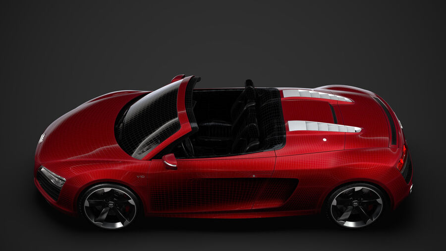 Audi R8 V10 Spyder del 2016 royalty-free 3d model - Preview no. 33
