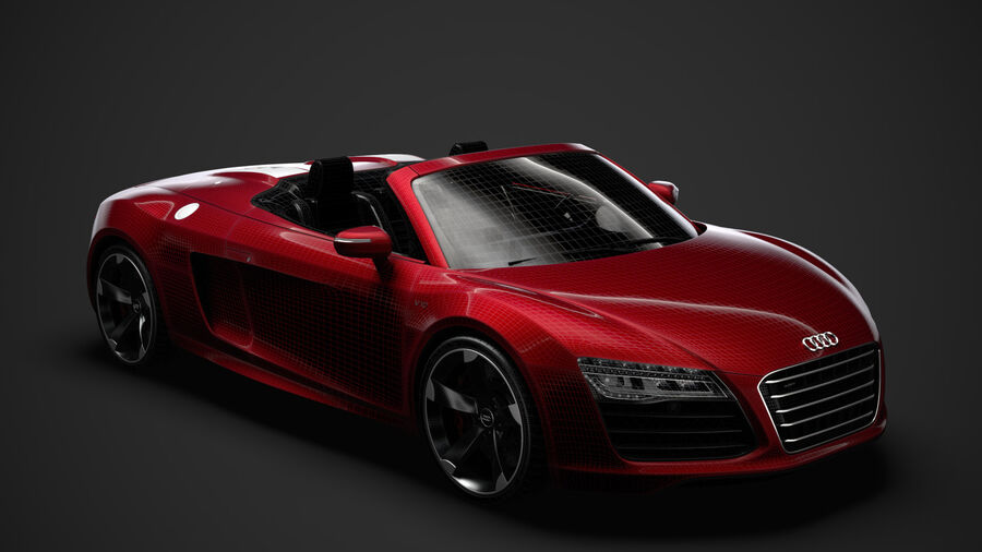 Audi R8 V10 Spyder del 2016 royalty-free 3d model - Preview no. 29