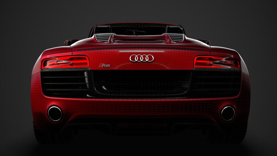 Audi R8 V10 Spyder del 2016 royalty-free 3d model - Preview no. 42