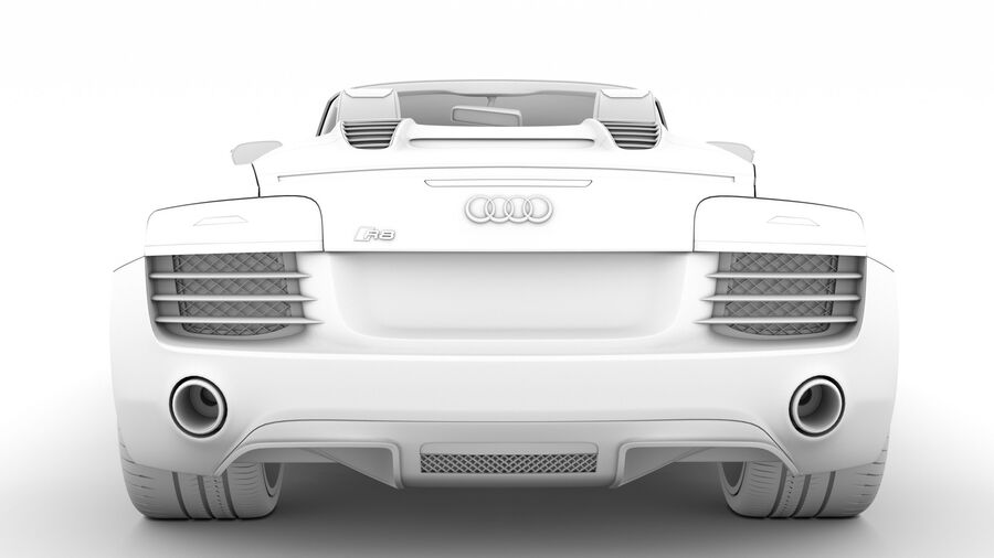 Audi R8 V10 Spyder del 2016 royalty-free 3d model - Preview no. 28