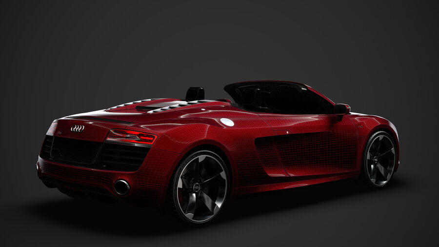 Audi R8 V10 Spyder del 2016 royalty-free 3d model - Preview no. 31