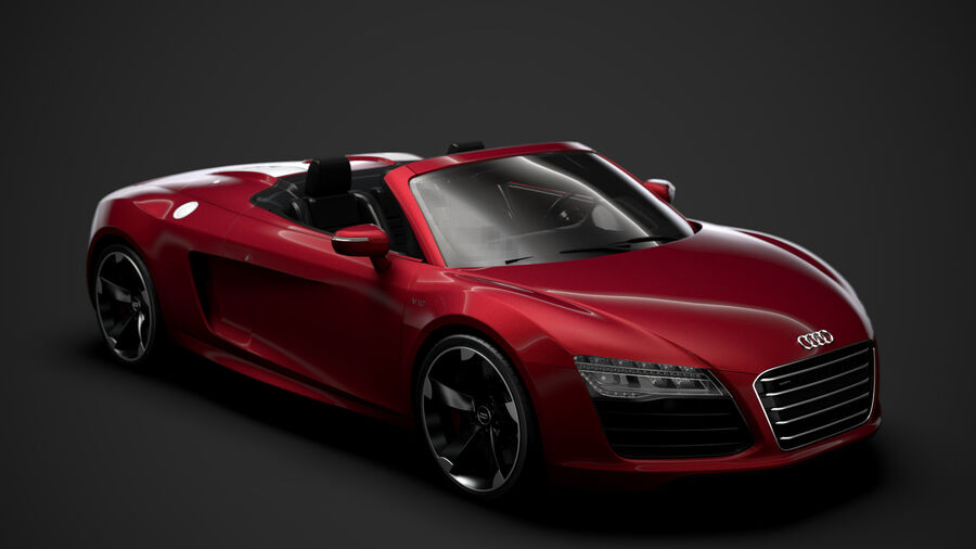 Audi R8 V10 Spyder del 2016 royalty-free 3d model - Preview no. 1