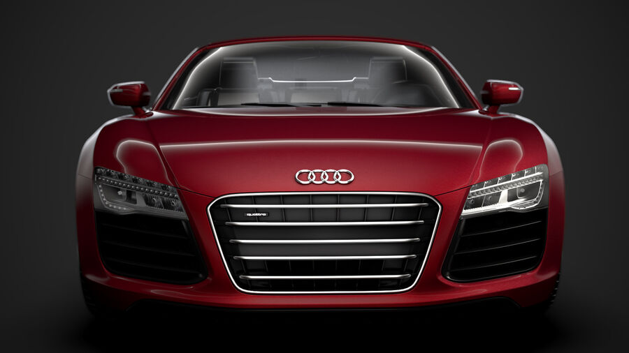 Audi R8 V10 Spyder del 2016 royalty-free 3d model - Preview no. 7