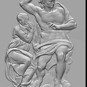 het laatste oordeel jezus giudizio universale michelangelo 3d model