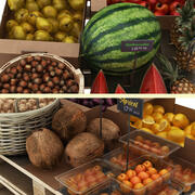 Fruit Display Collection 1 3d model