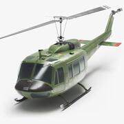 贝尔UH-1直升机 3d model