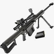 Fusil de précision Barrett M82 3d model