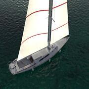 Sailboat Maya 3d model