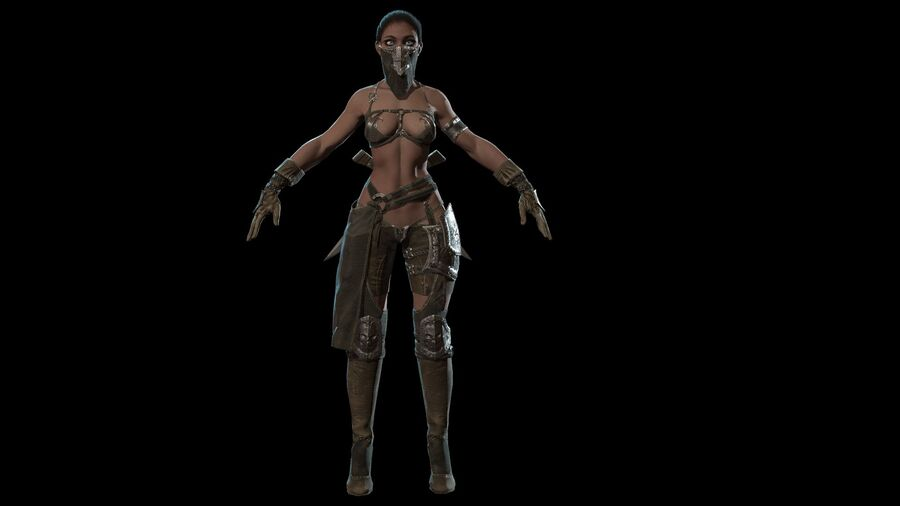 Gra AssassinGirl gotowa royalty-free 3d model - Preview no. 12