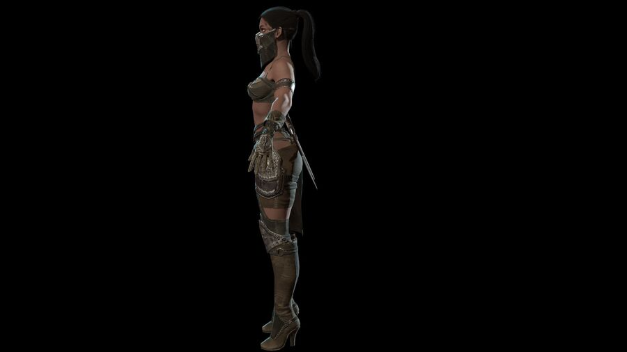 Gra AssassinGirl gotowa royalty-free 3d model - Preview no. 13