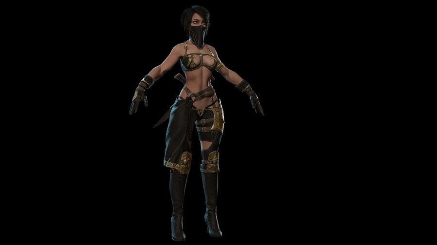 Gra AssassinGirl gotowa royalty-free 3d model - Preview no. 8