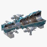 Cross Section of Steam Turbine(1) 3d model