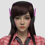 DVA 팬 Art 3d model