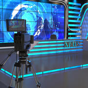Wiadomości ze studia telewizyjnego 3d model