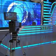 TV Studio News 3d model