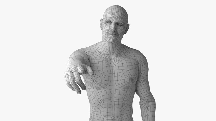 Bill Nude Man royalty-free 3d model - Preview no. 34