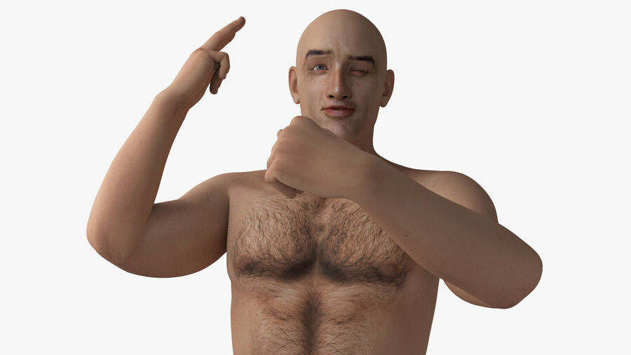 Bill Nude Man royalty-free 3d model - Preview no. 15